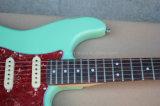 Hanhai Musik/grüne Str.-Art-elektrische Gitarre mit roter Schildkröte Pickguard