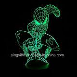 3D卓上スタンドの目の錯覚のBulbing夜ライト7カラー変更