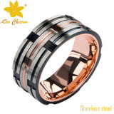El anillo de dedo tallado str-005 de acero inoxidable 316L