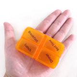 2017 Gift Promocional por atacado para 4 Case Pill Box Travel Pill Container Personal Medical Case