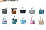 20oz katoenen Canvas Dame Shopping Tote Bag met de Versieringen van het Leer