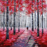Impressionnisme Reproduction Art Painting for Trees