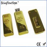 골드 바 디자인 USB 기억 장치 펜 드라이브 (XH-USB-125)
