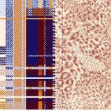 Plaid Pigment&Disperse des Leopard-100%Polyester druckte Gewebe für Bettwäsche-Set
