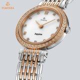 Horloge 71093 van het Kwarts van de Armband van het Kristal van de Dames van het Polshorloge van de Kwaliteit van het roestvrij staal Zwitsers Analoog