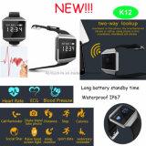 Самый новый браслет ECG франтовской с Bluetooth и монитором K12 здоровья