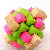 Brinquedos educacionais adultos de madeira das crianças da provocação do cérebro do presente do enigma da rebarba de 3D Iq