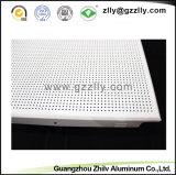 Panneau de plafond en aluminium perforé acoustique ignifuge insonorisé fait sur commande en métal pour le bureau