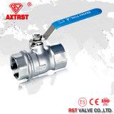 robinet à tournant sphérique à passage intégral d'acier inoxydable de 2PC 1000wog CF8