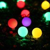Kugel-Weihnachtslichter der Sonnenenergie-LED 21FT die 50 LED-Kugel-Zeichenkette beleuchtet Solar-LED-dekoratives Licht für Innen-/im Freien, Garten, Partei