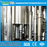 Máquina de enchimento de suco de aço inoxidável com sistema de enxaguamento e vedação