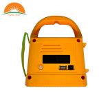 Tender el sistema solar anaranjado portable de la radio de la iluminación del LED que acampa