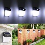 Solar impermeable de 24 LED Sensor de movimiento PIR Patio luz de pared Jardín Lámpara valla