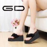 Glissières de bascule électronique de chaussures de santals de plate-forme de Womem de poussoirs de cales