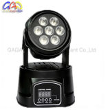 10W * 7PCS RGBW 4 en 1 mini profesional móvil LED de lavado de cabezal de luz LED