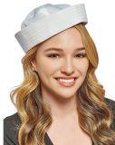 白い船員の帽子の大人の衣裳のアクセサリは、党帽子に服を着せる