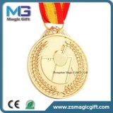 Medalha de ouro da alta qualidade 3D Matt com colhedor