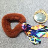 冬の方法リボンが付いている暖かいのどの毛皮のスカーフの偽造品の毛皮のスカーフ