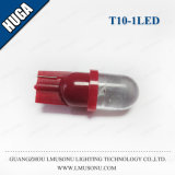 Da cunha redonda do carro de T10 1LED bulbo branco/vermelho de /Blue T10 do diodo emissor de luz do sinal