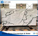 SGSのレポート(Calacatta)を用いる固体表面のホーム装飾のための卸し売り水晶平板