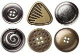 Botón del metal del accesorio de vestir con las certificaciones de Oeko BV Intertek