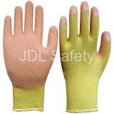 Одобренная Ce перчатка работы с померанцовым латексом (LY3012)