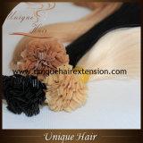 preço de fábrica loira ponta plana cores queratina extensões de cabelo