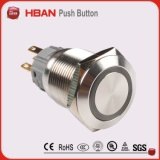 IP67 de 22mm 2n2nc Dpdt Ring-Illuminated Pulsador