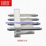 разъем PCB тангажа 3.96mm Nylon материального снабжения жилищем