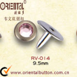 Nastro Rivet With un Pink Diamond in Center (RV-014)