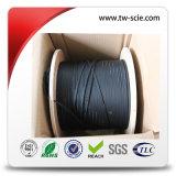 1 2 4 cable de gota de interior de la base FTTH de fibra de G657A