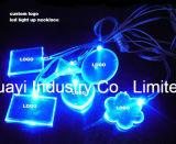 Glühen-Halsketten des Abdruck-Firmenzeichen-LED