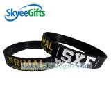 Kundenspezifische preiswerte Debossed Form-Silikon-Armbänder