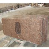 Сегменте панельного домостроения красного гранита Кухонные мойки