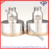 Perfuração de diamante de parede fina para perfuração de vidro
