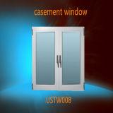 백색 프레임 PVC 서리 유리제 여닫이 창 Windows