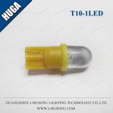 Lampadina bianca/rossa del cuneo rotondo dell'automobile di T10 1LED di /Blue T10 LED del segnale