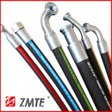 EN853 1sn/SAE 100r1at fio de aço trançado mangueira hidráulica