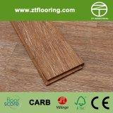 Suelo de bambú blanco del café del cepillo de Strandwoven