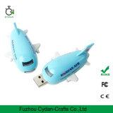 3D USB 비행기, 비행기, 항공기, 편평한 모양 펜 드라이브