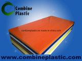 Различное деревянное слоение пленки PVC зерна на доску пены PVC