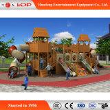 Campo de jogos engraçado de madeira ao ar livre das crianças da fábrica atrativa comercial (HD-MZ036)
