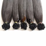 1, Uitbreiding van het Menselijke Haar van de Keratine van het Uiteinde van het Haar van de Kleur van 1B de Mongoolse Natuurlijke Getrokken Vlakke
