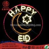 DEL allumant des vacances heureuses s'arrêtantes imperméables à l'eau d'Eid de décorations légères de Ramadan