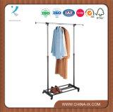 Рельс портативного шкафа одежды завальцовки одиночный для супермаркета