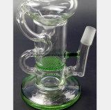 Weiße schwarze Glaspfeife für grünen Bienenwabe-Filter