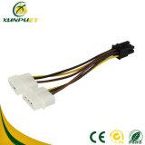 Os dados personalizados do transformador de 4 pinos do cabo de alimentação do fio do adaptador PCI