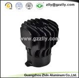 El aluminio sacó disipador de calor de la Redondo-Dimensión de una variable de los perfiles