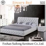 Современный стиль дизайна кожаные кровати 1102