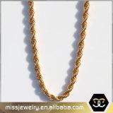 Halsband Mjcn012 van de Ketting van de Kabel van Mens van het roestvrij staal 14K de Gouden